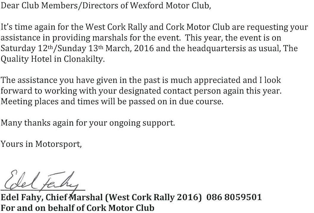 West Cork Marshals