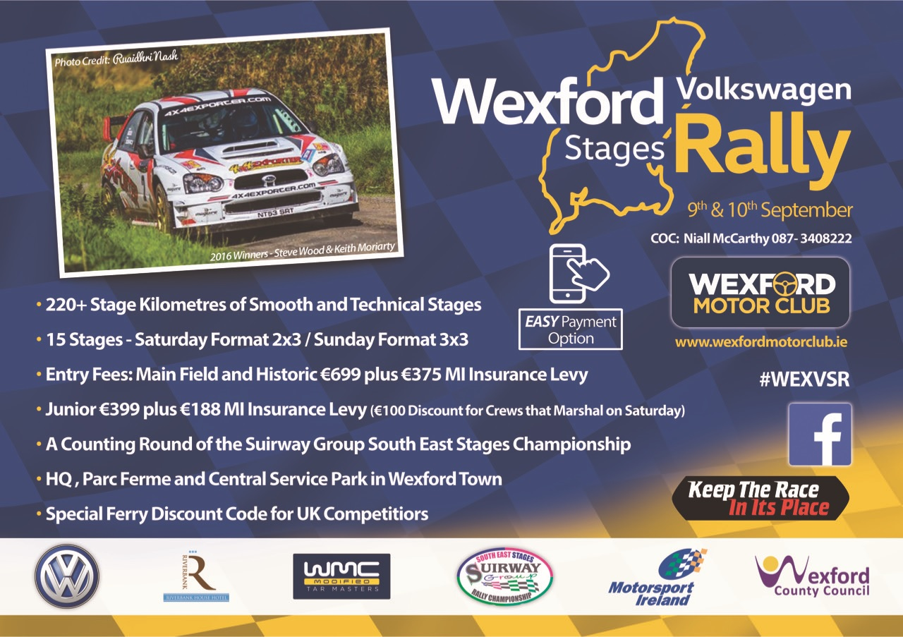 Rally Motor Credit >> Wexford Volkswagen Stages Rally Wexford Motor Club